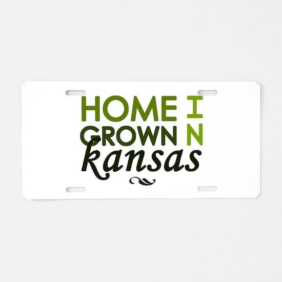 'Home Grown In Kansas' Aluminum License Plate