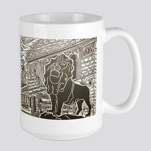 chicago lion Large Mug