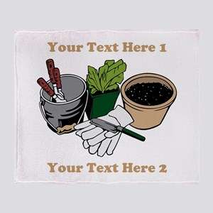 Gardening. Custom Text Throw Blanket