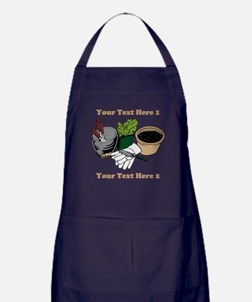 Gardening. Custom Text Apron (dark)