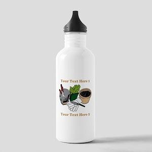 Gardening. Custom Text Stainless Water Bottle 1.0L