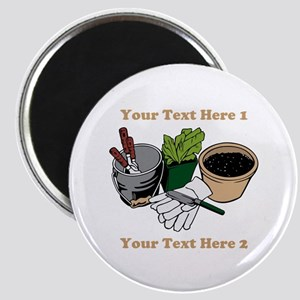 Gardening. Custom Text Magnet
