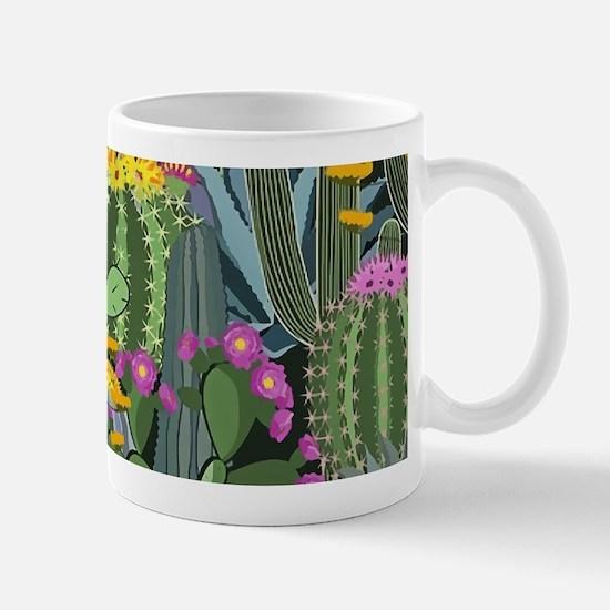Simple Graphic Cactus Garden Mugs