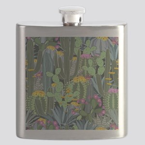 Simple Graphic Cactus Garden Flask