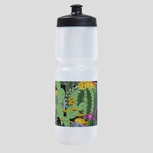 Simple Graphic Cactus Garden Sports Bottle