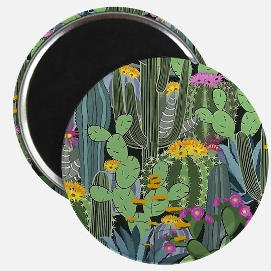 Simple Graphic Cactus Garden Magnets