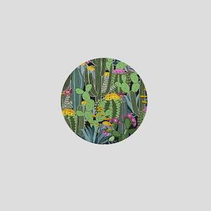 Simple Graphic Cactus Garden Mini Button