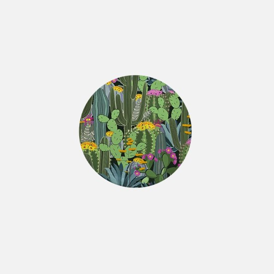 Simple Graphic Cactus Garden Mini Button