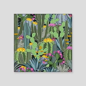 Simple Graphic Cactus Garden Sticker