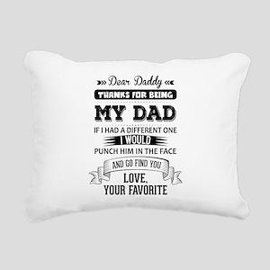 Dear Daddy, Love, Your Favorite Rectangular Canvas