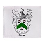 Foster Family Crest Throw Blanket