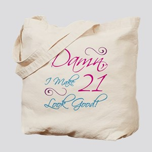 21st Birthday Humor Tote Bag