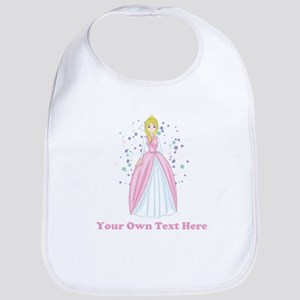 Princess. Custom Text. Bib