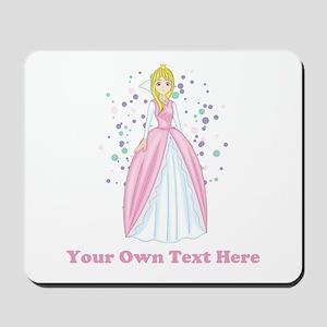 Princess. Custom Text. Mousepad