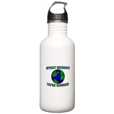 THE WORLD AWAITS Stainless Water Bottle 1.0L