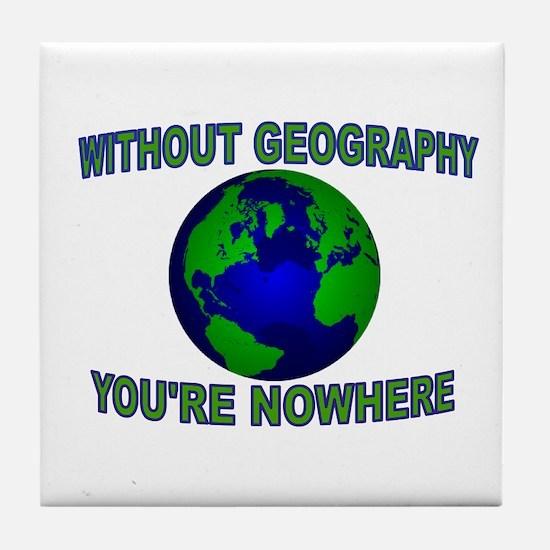 THE WORLD AWAITS Tile Coaster