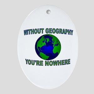 THE WORLD AWAITS Ornament (Oval)