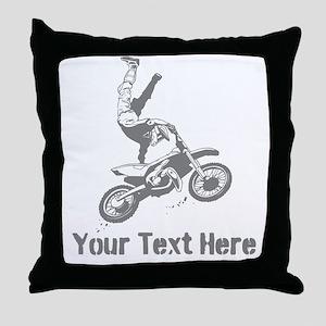 Freestyle Motocross Throw Pillow