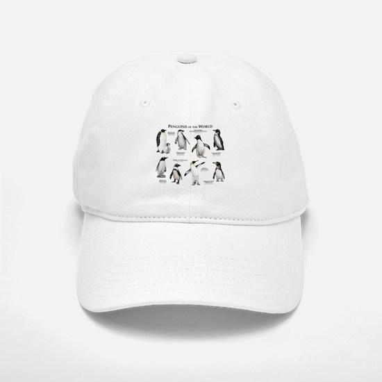 Penguins of the World Baseball Baseball Cap