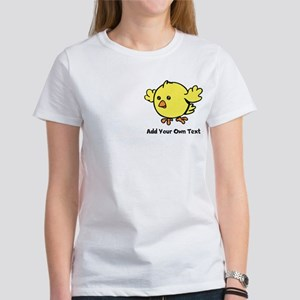 Cute Chick. Black Text Women's T-Shirt