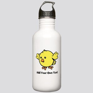 Cute Chick. Black Text Stainless Water Bottle 1.0L