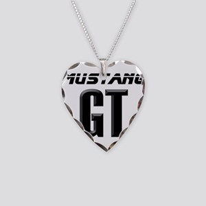 Mustang GT Necklace Heart Charm