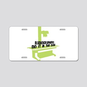 Get the Lead Apron! Aluminum License Plate