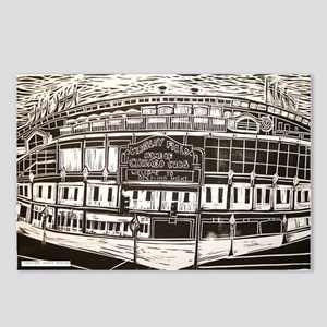 wrigley field art Postcards (Package of 8)