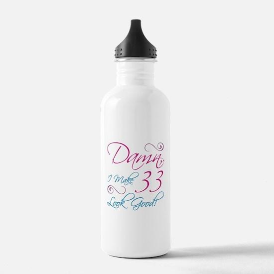 33rd Birthday Humor Water Bottle
