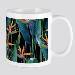 Watercolor Painting Tropical Bird of Paradise Mugs