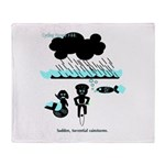 Cycling Hazard - Sudden Rain Throw Blanket