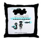 Cycling Hazard - Sudden Rain Throw Pillow