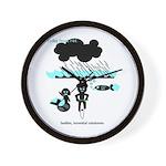 Cycling Hazard - Sudden Rain Wall Clock