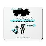 Cycling Hazard - Sudden Rain Mousepad
