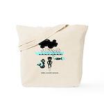 Cycling Hazard - Sudden Rain Tote Bag