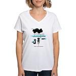 Cycling Hazard - Sudden Rain Women's V-Neck T-Shir