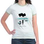 Cycling Hazard - Sudden Rain Jr. Ringer T-Shirt