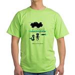Cycling Hazard - Sudden Rain Green T-Shirt