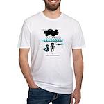 Cycling Hazard - Sudden Rain Fitted T-Shirt