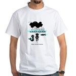 Cycling Hazard - Sudden Rain White T-Shirt