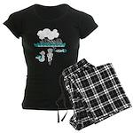 Cycling Hazard - Sudden Rain Women's Dark Pajamas