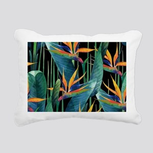 Watercolor Painting Trop Rectangular Canvas Pillow