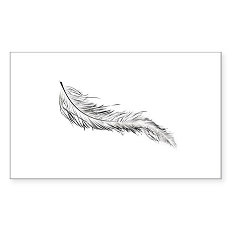 Twilight Breaking Dawn Feathers Sticker (Rectangle
