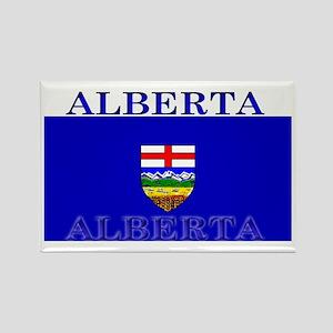 Alberta Albertan Flag Rectangle Magnet