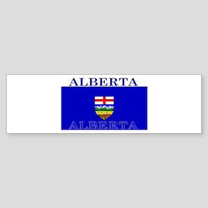 Alberta Albertan Flag Bumper Sticker