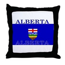 Alberta Albertan Flag Throw Pillow