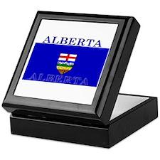 Alberta Albertan Flag Keepsake Box