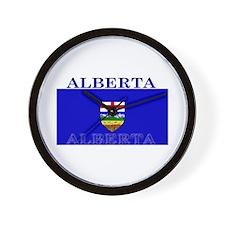 Alberta Albertan Flag Wall Clock