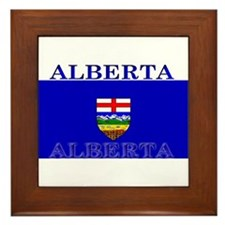 Alberta Albertan Flag Framed Tile