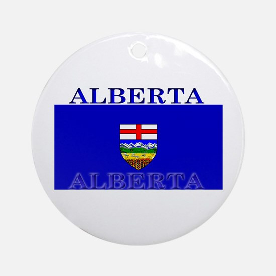 Alberta Albertan Flag Christmas Ornament